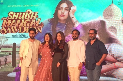 shubh mangal saavdhan trailer launch event