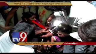 child s head gets stuck inside pot by accident tv9