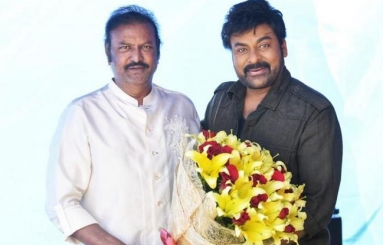 Mohan Babu Meets Chiranjeevi on Acharya Sets