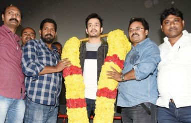 Mr Majnu Team At Sailaja Theatre Vijayawada