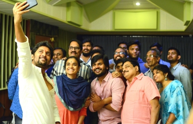 Nagarjuna And Nani Movie Songs Recording Pics