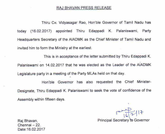 CM Appointment