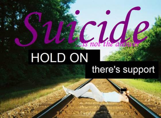 Suicide is no solution to a problem