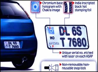 High Security Number Plates From Dec 11