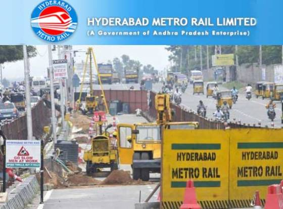 Construction work for Hyd Metro Rail starts