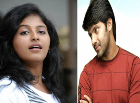 Anjali kisses Arya on screen