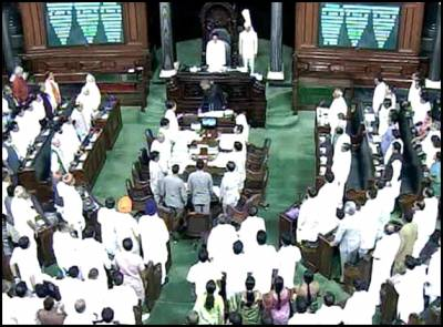 Lok Sabha adjourned