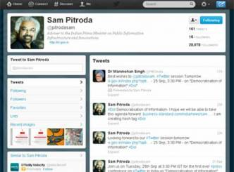 Sam Pitroda's press conference on Twitter today