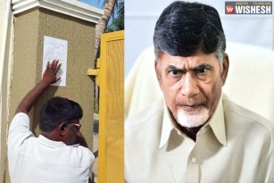 House Demolition Notice for Chandra Babu