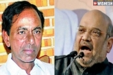 KCR new, KCR updates, kcr is keen on joining hands with bjp says amit shah, Shah