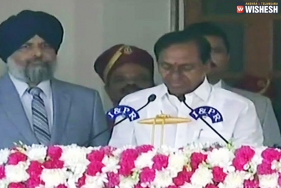 KCR Takes Oath As Chief Minister