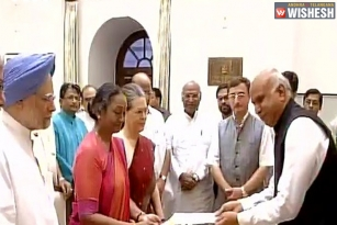 Meira Kumar Files Her Nomination Papers For Presidential Election