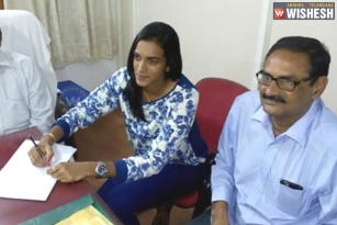 PV Sindhu Takes Charge As Deputy Collector In AP Govt