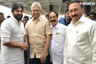 Pawan Kalyan Attends All Party Meet Chaired By Undavalli