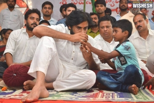 Pawan Kalyan Ends His One Day Fast On Uddam Kidney Ailment