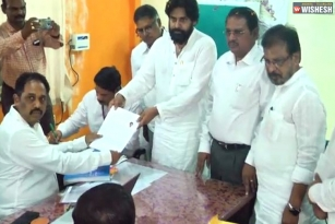 Pawan Kalyan Files His Nomination From Gajuwaka