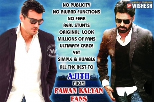 Pawan fans love on Ajith