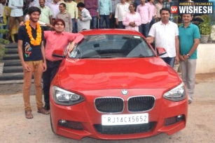 Rajasthan Coaching Institute Gifts Topper BMW