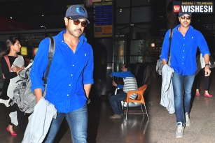 Ram Charan Back to Hyderabad from Kashmir