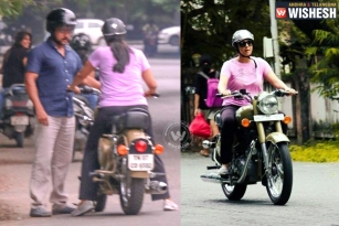 Suriya Teaches Jyothika Bike Riding