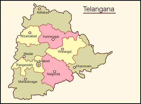 Now division within Telangana