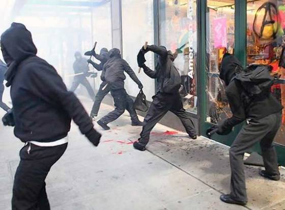 Seattle's May Day marked outrageous vandalism by black clad demonstrators