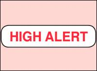 High Alert issued