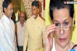 KCR and Naidu plays joint strategy on Sonia Gandhi!