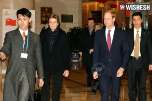 Prince William in China