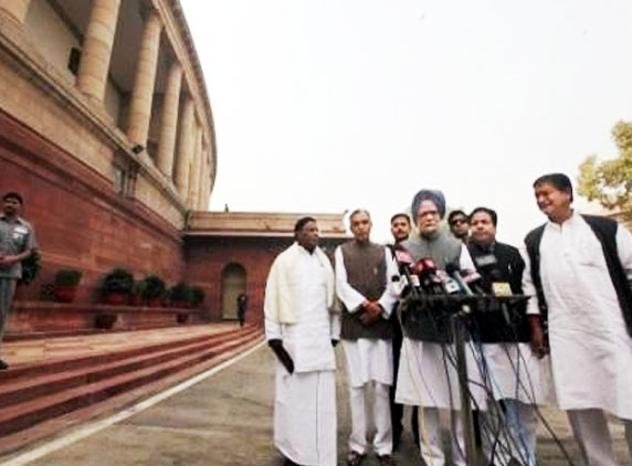 Lok Sabha adjourned after uproar over T issue
