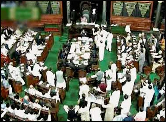 Lok Sabha suspends 8 Cong MPs for ruckus over T