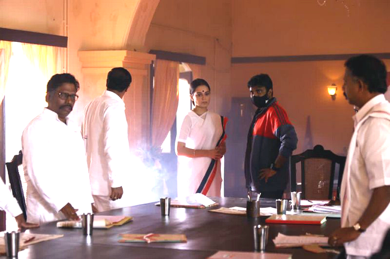Thalaivi Movie Working Stills