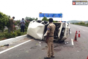 One Dead In AP Minister's Car Accident On ORR, Hyderabad