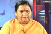 BJP Leader, PM Modi, bjp leader uma bharti refuses to comment on reports of her resignation, Bjp leader