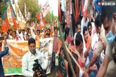 AP BJP news, AP temple attacks news, bjp to stage state wide agitation on temple attacks, Protest