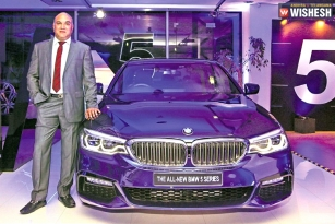 BMW-All New 5 Series Unveils In Hyderabad