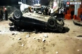 One Dead After Car Rams Off Bharat Nagar Flyover