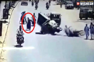 Hyderabad: Woman Walks on Road Causing Accident, Video Goes Viral