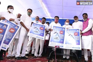 KTR Launches Free Drinking Water Scheme In Hyderabad