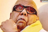 Uneasiness In Breathing, M Karunanidhi, dmk prez karunanidhi admitted to hospital for endoscopic procedure, Hospitalized