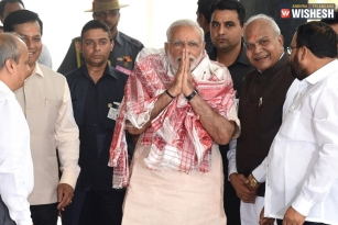 Modi Arrives In Assam To Review Flood Situation