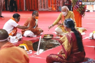 Narendra Modi Conducts Bhumi Puja For Ram Mandir