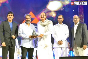 Rajamouli Felicitated With ANR Award