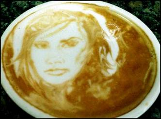 Victoria Beckham posts awesome coffee portrait
