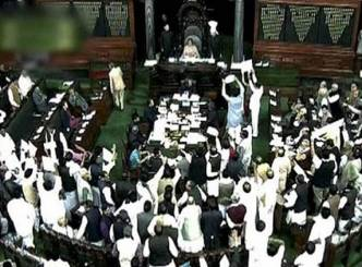 Petrol price hike resulted in noisy protest in the Lok Sabha...