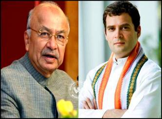 Home Minister Shinde upsets Rahul