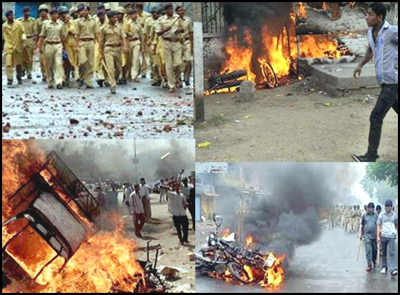Communal clashes hit the city