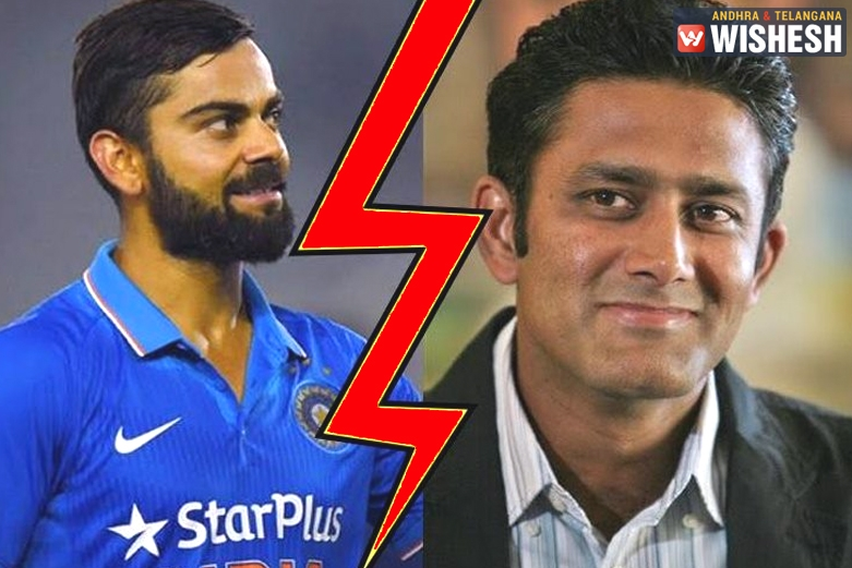 Rift Between Indian Skipper Kohli And Coach Kumble Shakes India