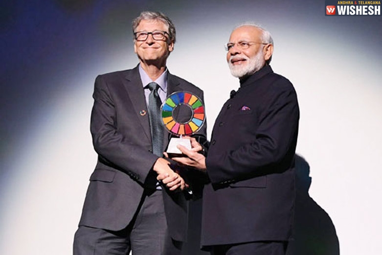 Narendra Modi Conferred With Global Goalkeeper Award