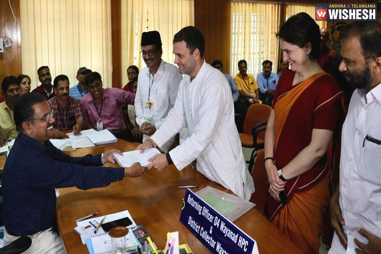 Congress President Rahul Gandhi Files Nomination From Kerala's Wayanad